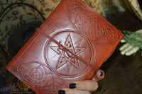 Leather journal - Pentagram with cord