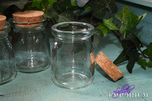 80ml little jar with cork stopper -  Lylliths Emporium, wicca pagan witchcraft spiritual supplies Australia