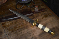 bone, brass, tooth athame