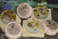 botanical infused soaps with crystals