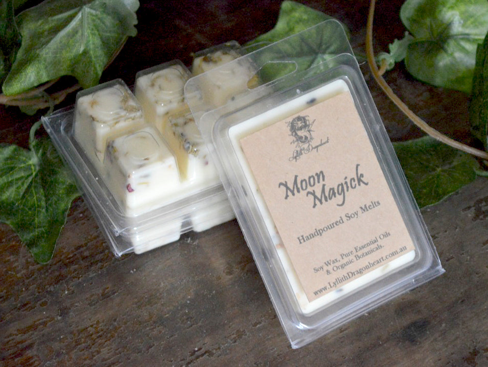 botanical infused soy melts for witches