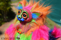 rainbow troll art doll