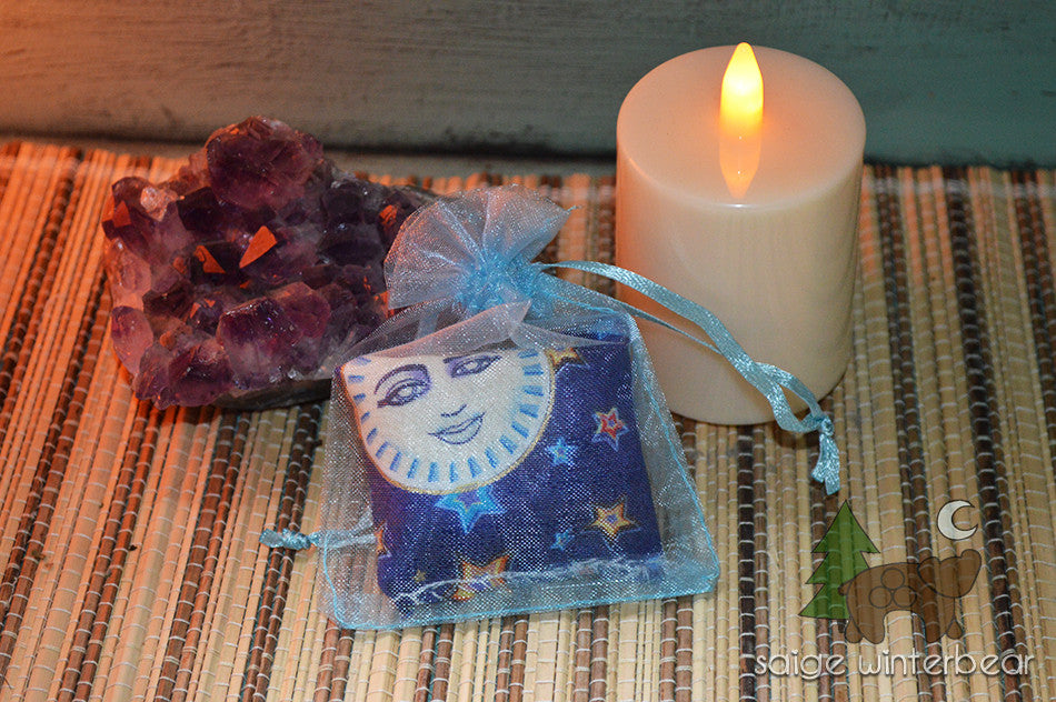 Saige Whinterbear, sleep, dreams, pouches -  Lylliths Emporium, wicca pagan witchcraft spiritual supplies Australia