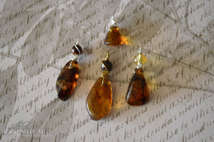 Amber pendant - assorted