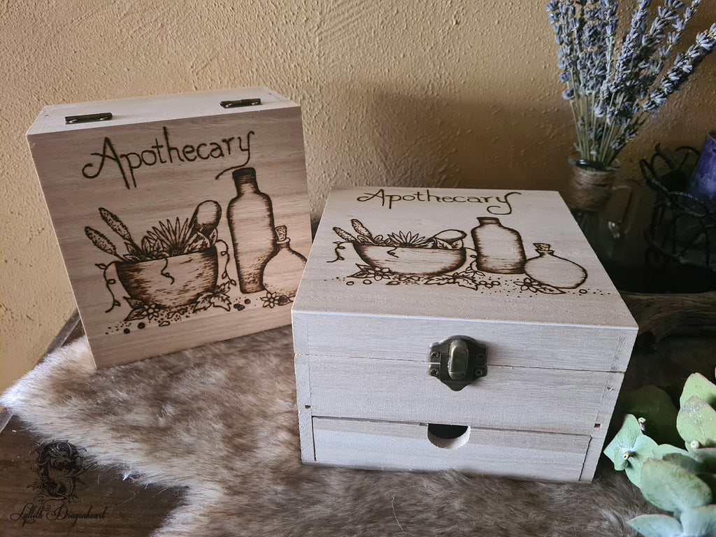 Apothecary Wooden Chest