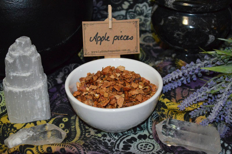 organic dried apple pieces - love spells