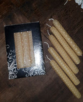 Handrolled Beeswax mini tapers