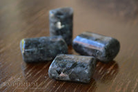 Black Moonstone, crystals, tumble stones, gemstones -  Lylliths Emporium, wicca pagan witchcraft spiritual supplies Australia