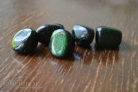 Green Goldstone - tumbled stones