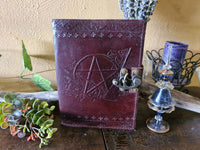 Leather Journal ~ Pentagram with latch