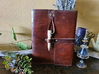 Leather Journal ~ Peg closure