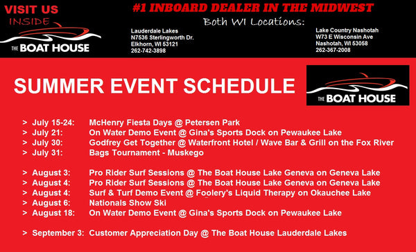 Check out The Boat House's summer events & our new locations...