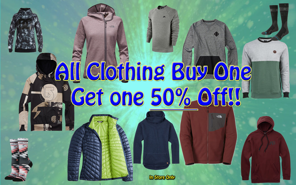 Clothing BOGO 50%!!