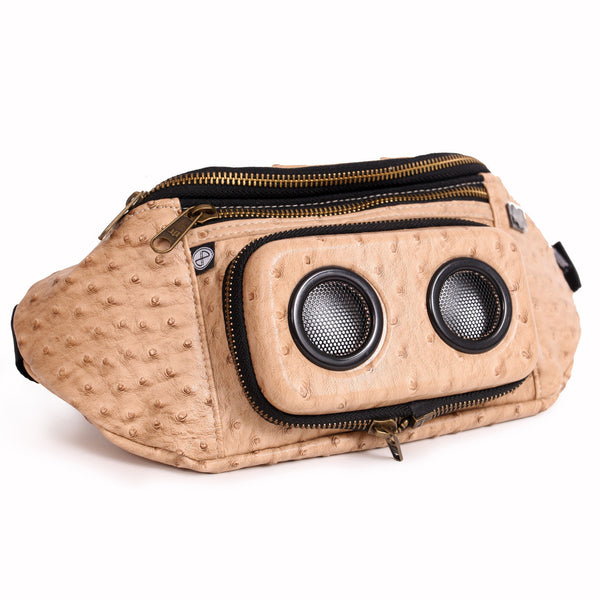 Ostrich (faux) Bluetooth Fanny Pack