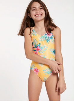 BIG GIRLS FLOWER GIRL ONCE PIECE SWIMSUIT