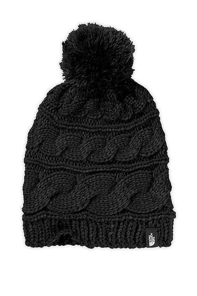Women's Triple Cable Pom Beanie