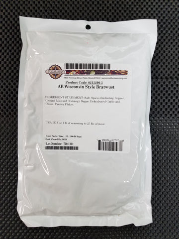 AB Wisconsin Style Bratwust Seasoning by Alaska Butcher