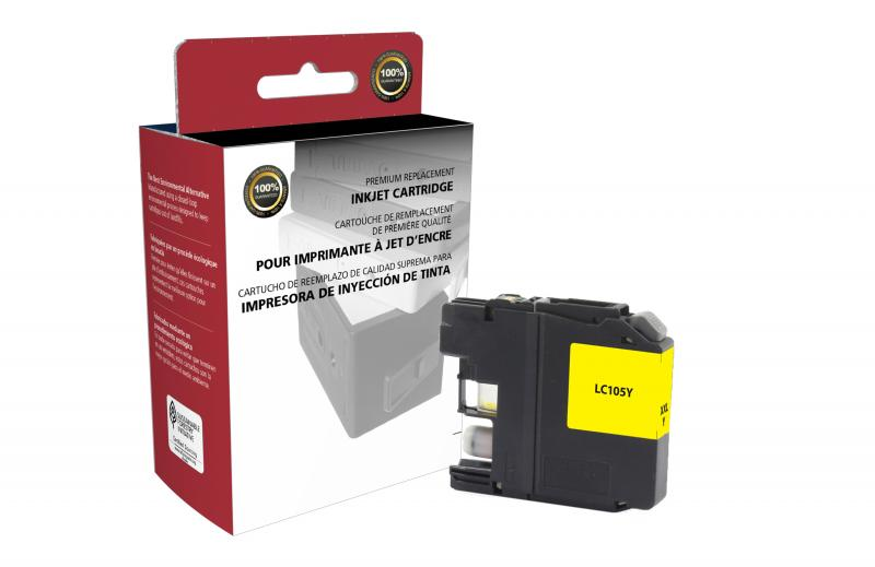 CIG Non-OEM New Super High Yield Yellow Ink Cartridge for Brother LC105XXL