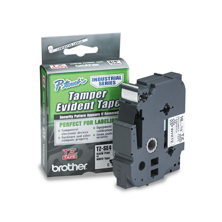 Brother TZ-ESE4 Security Tape Cartridge 3/4w, Black on White