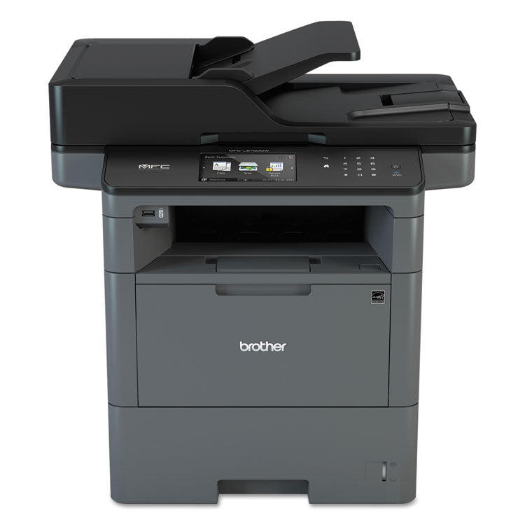 Brother MFC-L6700DW Wireless Monochrome All-in-One Laser Printer, Copy/Fax/Print/Scan, Brother MFCL6700DW