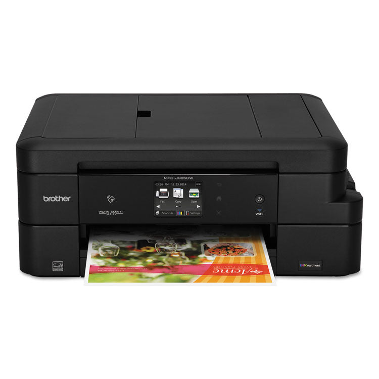 Brother Work Smart MFC-J985DW All-in-One Copy/Fax/Print/Scan with INKvestment Cartridges, Brother MFCJ985DW