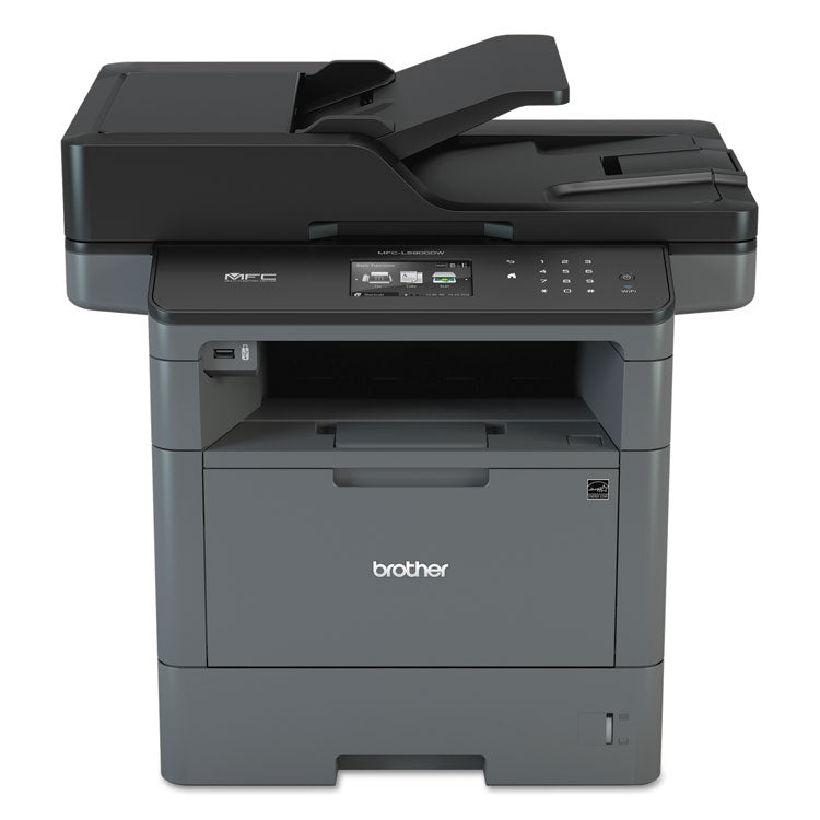 Brother MFC-L5900DW Wireless Monochrome All-in-One Laser Printer, Copy/Fax/Print/Scan, Brother MFCL5900DW
