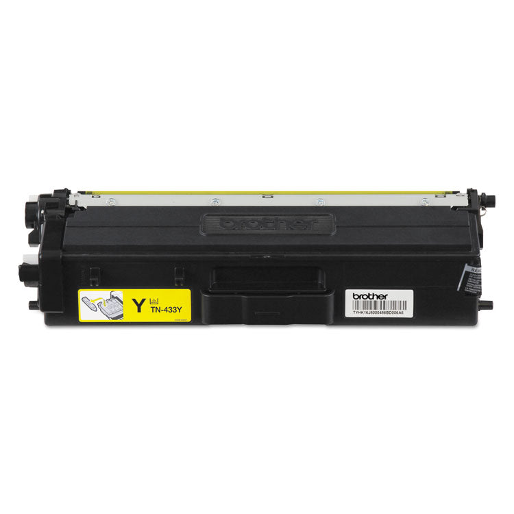 Brother TN433 Yellow, High Yield Toner Cartridge, Brother TN433Y