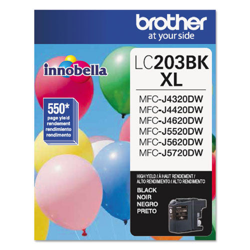 Brother® LC203BK LC203BK Innobella High-Yield Ink, Black