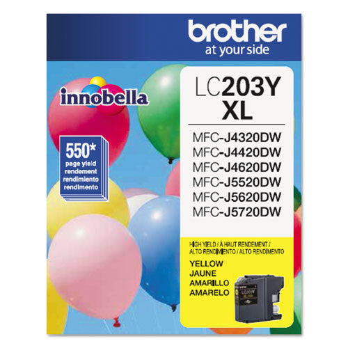 Brother® LC203Y LC203Y Innobella High-Yield Ink, Yellow