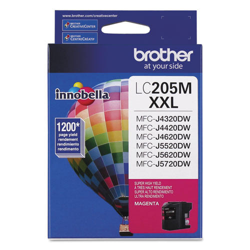 Brother® LC205M LC205M Innobella Super High-Yield Ink, Magenta