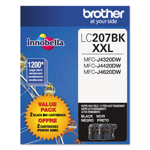 Brother® LC2072PKS LC2072PKS Innobella Super High-Yield Ink, Black, 2/PK