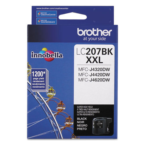 Brother® LC207BK LC207BK Innobella Super High-Yield Ink, Black