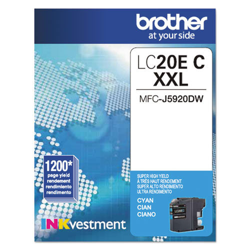 Brother® LC20EC LC20EC Innobella Super High-Yield Ink, Cyan