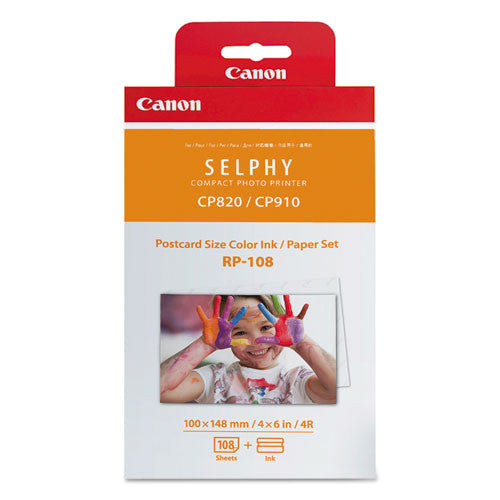 Canon® 8568B001 8568B001 (RP-108) Ink & Paper Combo Pack, Tri-Color