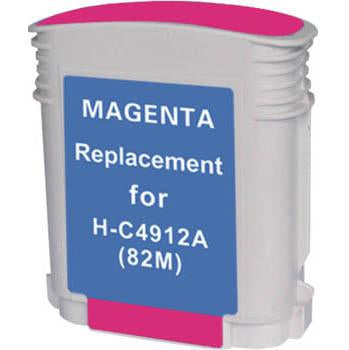 Premium Compatible (HP 82) Remanufactured Magenta, High Yield Ink Cartridge, Generic C4912A - Fits Printers: DesignJet 500/500PS/800/800PS/815MFP/820MFP/CC800PS