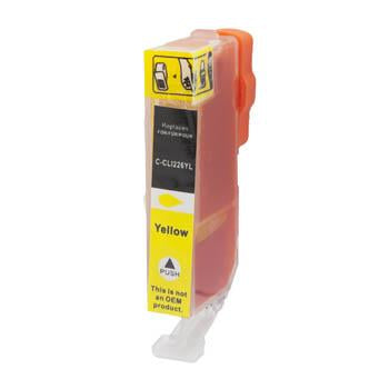 Premium Compatible (Canon CLI-226Y) Remanufactured Yellow, Standard Yield Ink Cartridge, Generic CLI-226Y - Fits Printers: Pixma iP4820/iX6520/MG5210/MG6210, Yellow