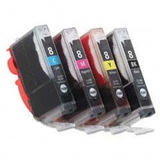 Compatible Canon CLI 8 4-Color, Multi Pack Ink Cartridge