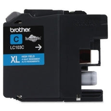 Premium Compatible Brother LC-103C Cyan, High Yield Ink Cartridges