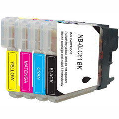 Compatible Brother LC-61 4 Color, Multi Pack Ink Cartridge