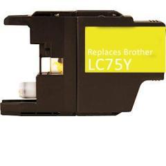 Premium Compatible Brother LC75Y Yellow Ink Cartridge - Fits Printers: MFC-J6510/6710/6910, Yellow HY