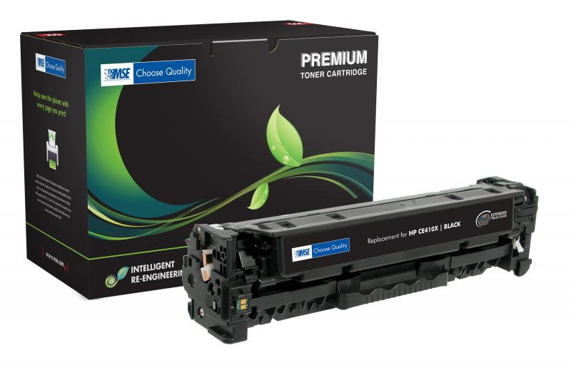 MSE Remanufactured Extended Yield Black Toner Cartridge for HP CE410X (HP 305X)