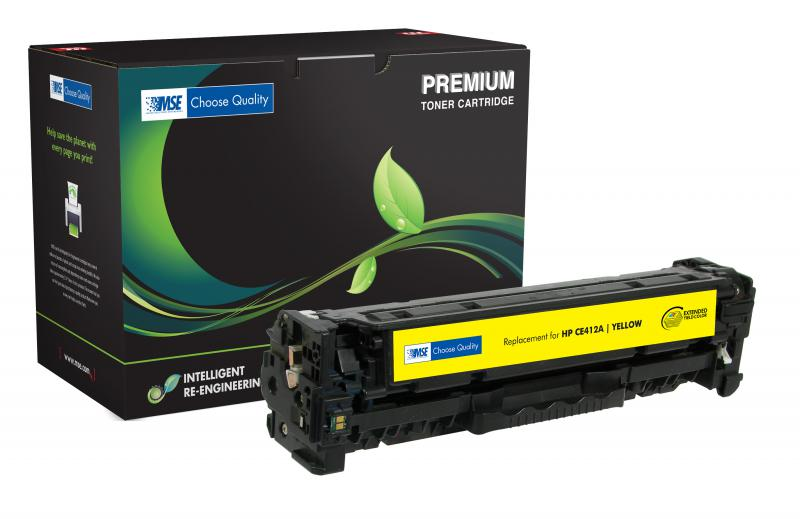 MSE Remanufactured Extended Yield Yellow Toner Cartridge for HP CE412A (HP 305A)