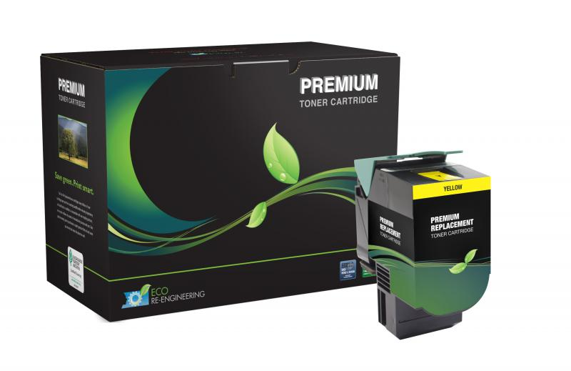 MSE Remanufactured Extra High Yield Yellow Toner Cartridge for Lexmark CS510