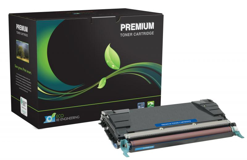 MSE Remanufactured High Yield Cyan Toner Cartridge for Lexmark C520/C522/C524/C534