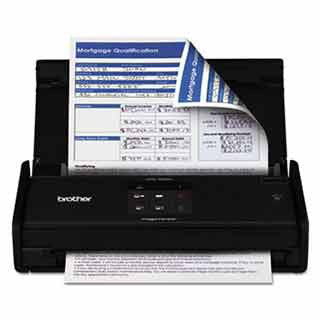 Brother ADS1000W ADS1000W Wireless Compact Scanner, 600 x 600 dpi, 20 Sheet Automatic Feeder