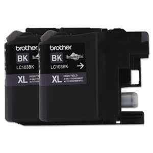 Brother LC1032PKS LC1032PKS Innobella High-Yield Ink, Black, 2/PK