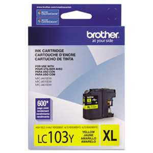 Brother LC103Y LC103Y Innobella High-Yield Ink, Yellow