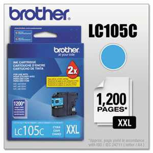 Brother LC105C LC105C Innobella Super High-Yield Ink, Cyan