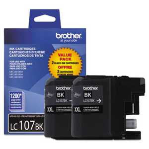 Brother LC1072PKS LC1072PKS Innobella Super High-Yield Ink, Black, 2/PK