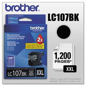 Brother LC107BK LC107BK Innobella Super High-Yield Ink, Black